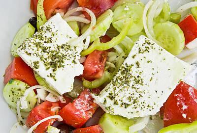 Salad Oil Photograph - Greek Salad by Tom Gowanlock
