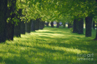 Green Lane In The Park Art Print by Aleksey Tugolukov