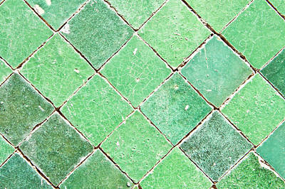 Color Block Photograph - Green Tiles by Tom Gowanlock