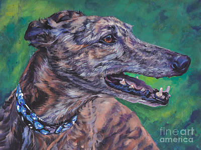 Greyhound Art Print by Lee Ann Shepard