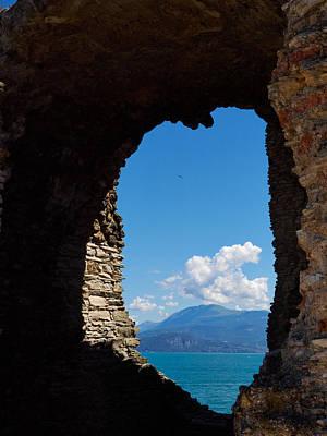 Jouko Lehto Royalty-Free and Rights-Managed Images - Grotte di Catullo at Sirmione. Lago di Garda by Jouko Lehto