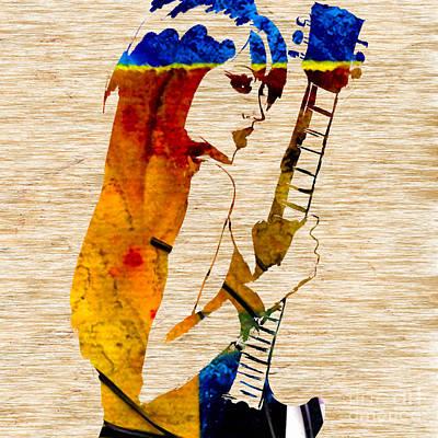 Guitar Mixed Media - Guitar Goddess by Marvin Blaine