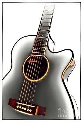 Guitar Art Print by Walt Foegelle