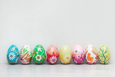 Group Photograph - Handmade Easter Eggs Collection by Michal Bednarek