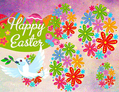 Happy Easter Digital Art - Happy Easter by Gayle Price Thomas