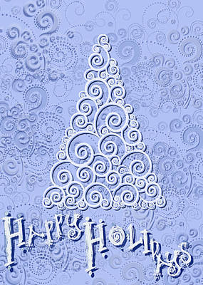 Digital Art - Happy Holidays by Shelley Bain