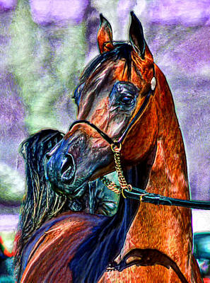 Nag Painting - Superb Stallion by Bruce Nutting