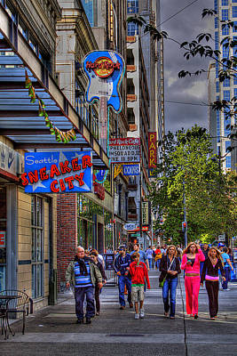 Hard Rock Cafe - Seattle Art Print