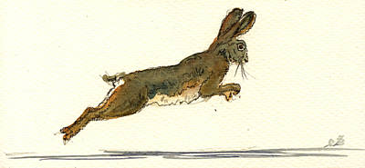 Running Painting - Hare by Juan  Bosco