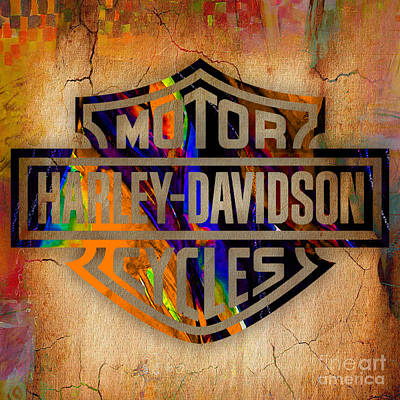 Harley Davidson Cycles Art Print by Marvin Blaine
