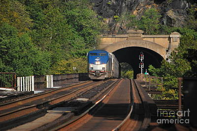 Photograph - Harpers Ferry Amtrack Series 5 Of 6 by Bob Sample