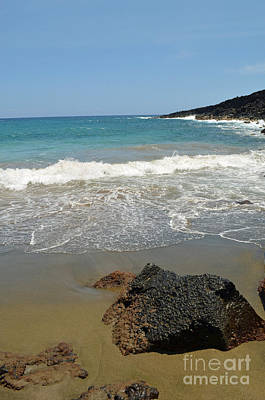 Photograph - Hawaii Island Papakolea Green Sand Beach  by Eva Kaufman