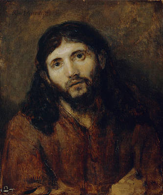 Rembrandt Painting - Head Of Christ by Celestial Images