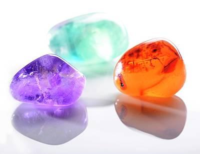 Semi Precious Stone Photograph - Healing Gemstones by Cordelia Molloy