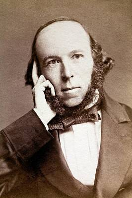 1860s Photograph - Herbert Spencer by Paul D Stewart