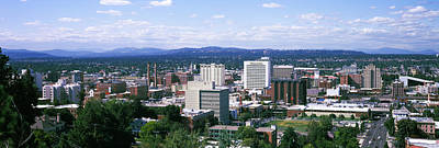 High Angle View Of A City, Spokane Art Print by Panoramic Images