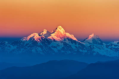 Himalayan Mountains View From Mt. Shivapuri Art Print