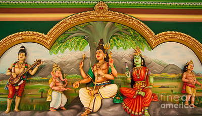 Hindu Goddess Photograph - Hindu God by Niphon Chanthana