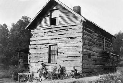 Hine Log Cabin, 1921 Art Print by Granger