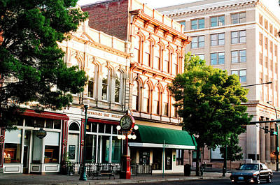 Historic Buildings Along Main Street Art Print by Nik Wheeler