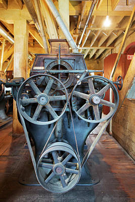 Milling Machine Photograph - Historic Flour Mill Machinery by Jim West