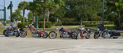 Photograph - Hogs And Choppers by Laura Fasulo