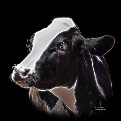Digital Art - Holstein Cow - 0034 F by James Ahn