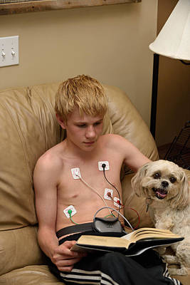 Fluttering Photograph - Holter Monitor On 14-year-old by Kevin Link