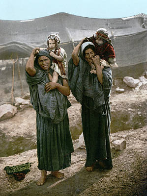 Of Toddlers Painting - Holy Land Bedouins, C1895 by Granger