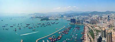 Photograph - Hong Kong Aerial by Songquan Deng