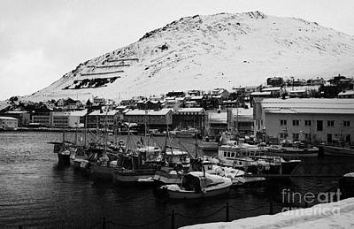 Honningsvag Harbour Finnmark Norway Europe Art Print by Joe Fox