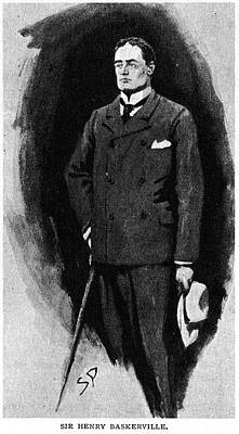 Turn Of The Century Drawing - Hound Of The Baskervilles by Granger