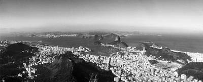 House On The Coast From Corcovado, Rio Print by Panoramic Images