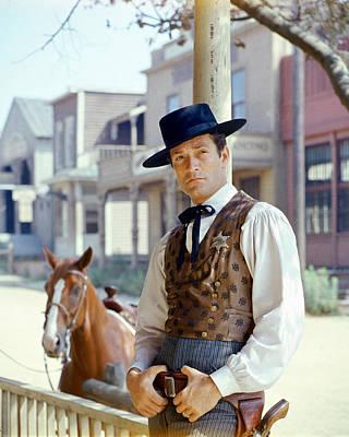 Wyatt Earp Photograph - Hugh O'brian In The Life And Legend Of Wyatt Earp by Silver Screen
