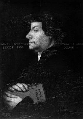 Huldreich Zwingli (1484-1531) Art Print by Granger