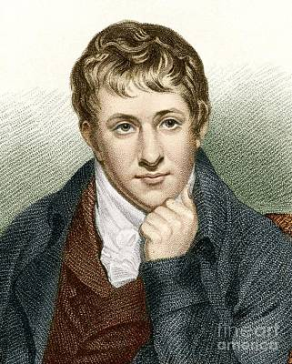 Gas Lamp Photograph - Humphry Davy, English Chemist by Sheila Terry