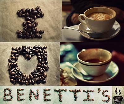 Coffee Photograph - I Love Benetti's Coffee by Stephanie Hollingsworth