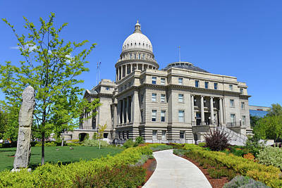 Idaho State Capitol, Boise, Idaho, Usa Art Print