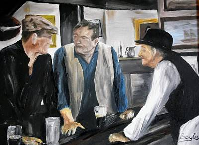 Maureen Painting - I'm Buying The Drinks by Gary Boyle