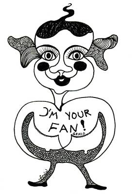 Joyful Drawing - I'm Your Fan by Genia GgXpress