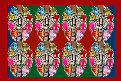 Imitation Jewellery Graphic Design Decorative Patterns Navinjoshi Rights Managed Images Graphic Desi Art Print by Navin Joshi