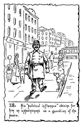 Police Dog Painting - Immigrants Irish, C1885 by Granger