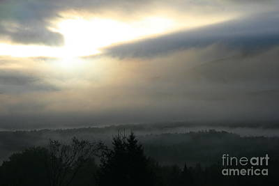 Photograph - Lyndonville Vermont Early Morning Rain  by Neal Eslinger