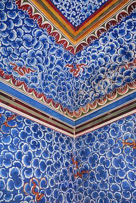 Mural Photograph - India, Rajasthan, Bikaner by Alida Latham