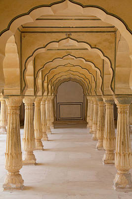 India, Rajasthan, Jaipur Amber Fort Print by Emily Wilson