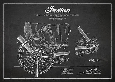 Indian Motorcycle Patent From 1902 Art Print by Aged Pixel