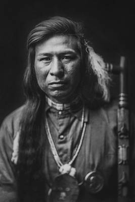 Wall Art - Photograph - Indian Of North America Circa 1905 by Aged Pixel
