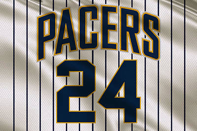 Baskets Photograph - Indiana Pacers Uniform by Joe Hamilton