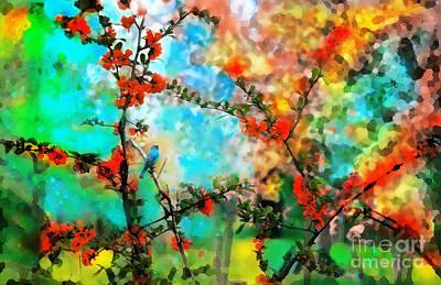 Bunting Digital Art - Indigo by Gina Signore
