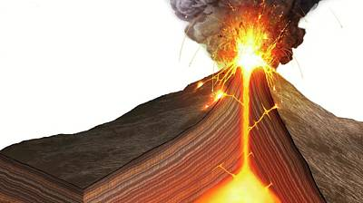 Interior Of A Stratovolcano Art Print
